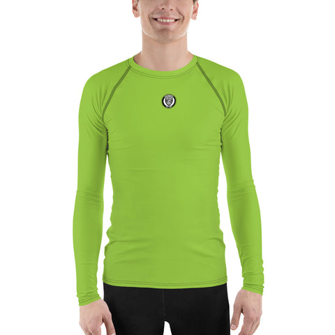 Men's UPF 40+ Rash Guard - Blue Steel