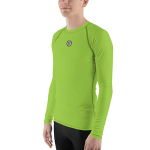 Men's UPF 40+ Rash Guard - Lambo Green