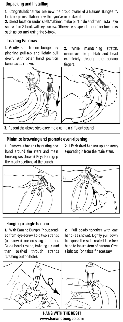 The Banana Bungee's Updated Insert w Instructions