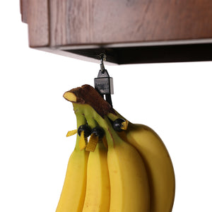 Open image in slideshow, Banana Bungee Hanger, Practical Stand and Rack Alternative, Under Cabinet Hook Holds Single or Bunch, Made In USA
