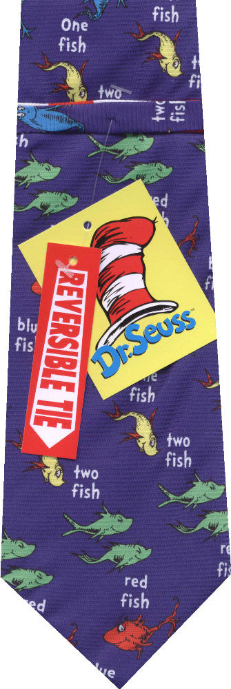 Dr Seuss Reversible New Novelty Tie