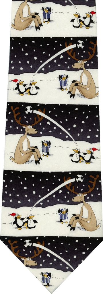 CHRISTMAS REINDEER AND PENGUIN SOCCER