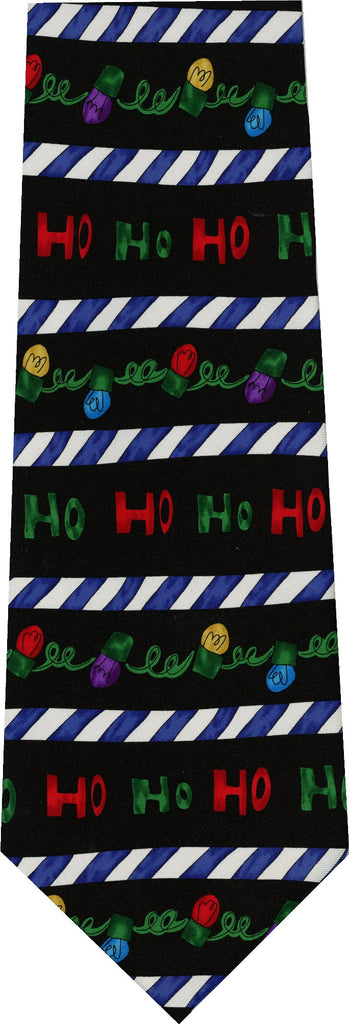 Save The Children Christmas HO HO HO Blue Stripe New Novelty Tie