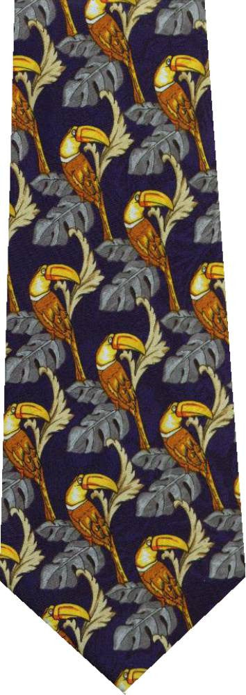 Toucan Blue New Novelty Tie