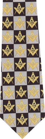 Freemasonry on Blue New Novelty Tie