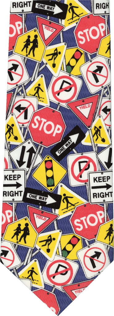 Traffic Signs New Novelty Tie