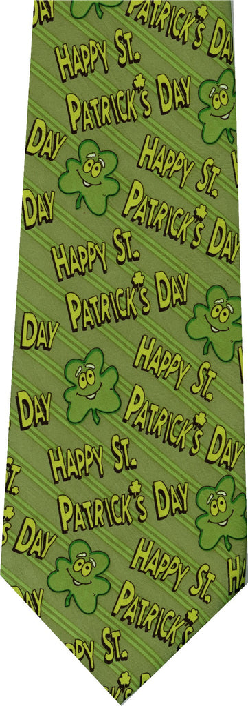 Shamrocks St Patricks Day New Novelty Tie