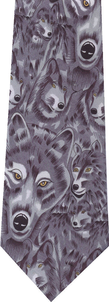 Wolves All Over New Novelty Tie