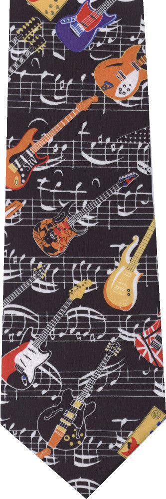 Colorful Guitars New Novelty tie