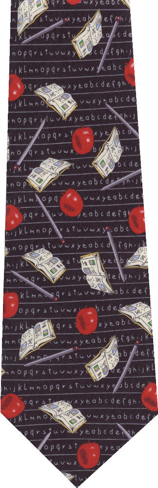Teachers Apples Books New Novelty Tie