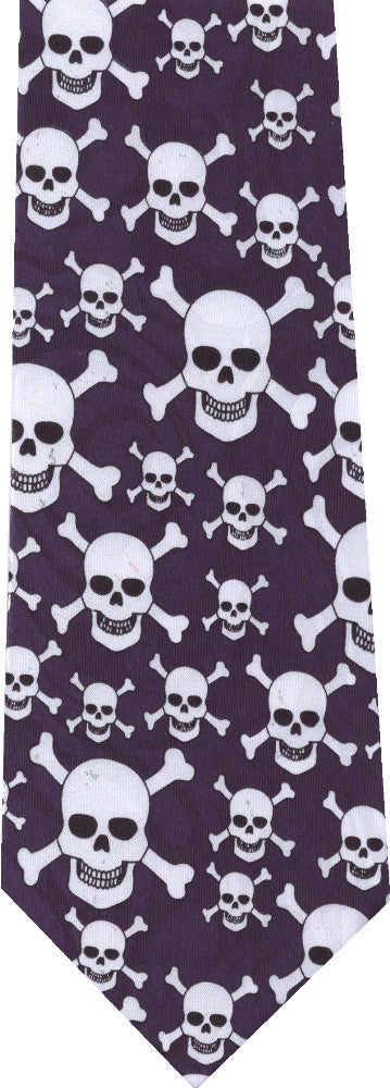 Skull and Crossbones Halloween New Novelty Ties