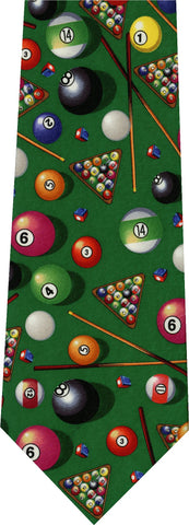 Pool Table New Novelty Tie