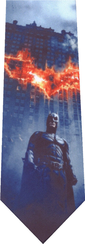 Batman with his iconic sign Burning New Novelty Tie