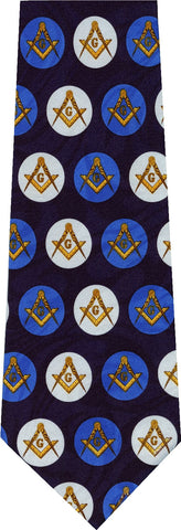 Freemasonry Square and Compass New Novelty Tie