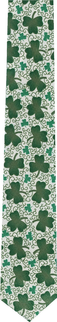 Shamrocks St Patricks Day Skinny Tie New Novelty Tie
