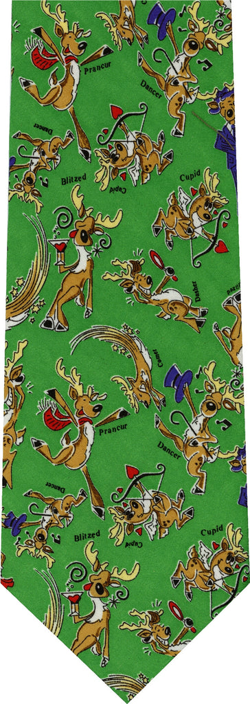 Reindeer Party Christmas New Novelty Tie