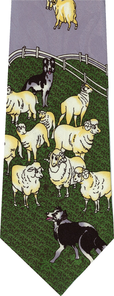 Sheep On Grey Animal New Novelty Tie