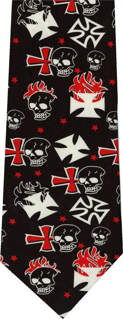 Anarchy Skulls New Novelty Ties