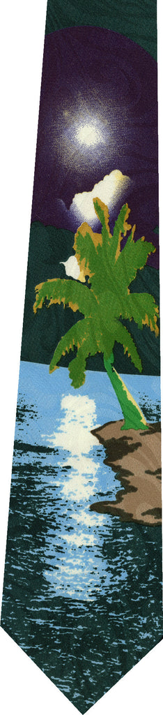 Hawaii on Green New Novelty Tie