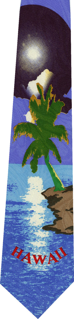 Hawaii on Light Blue New Novelty Tie