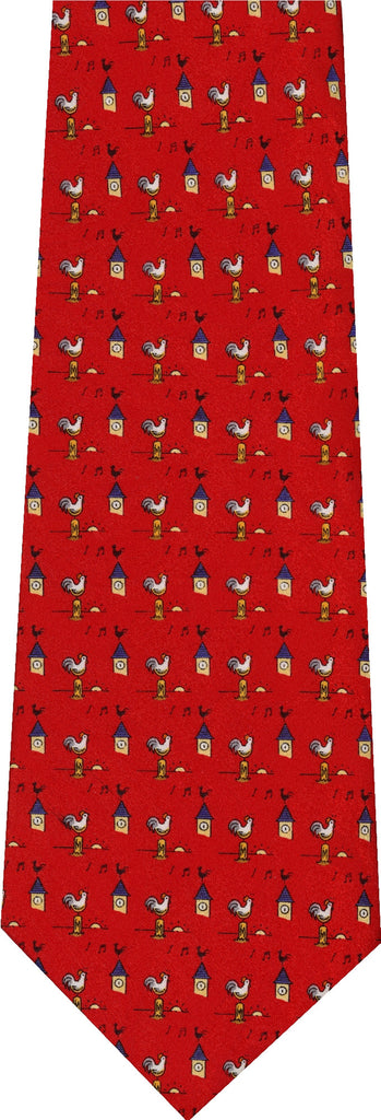 Rooster With Henhouse Animal New Novelty Tie