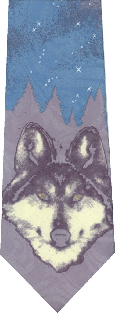 Wolf on Grey New Novelty Tie