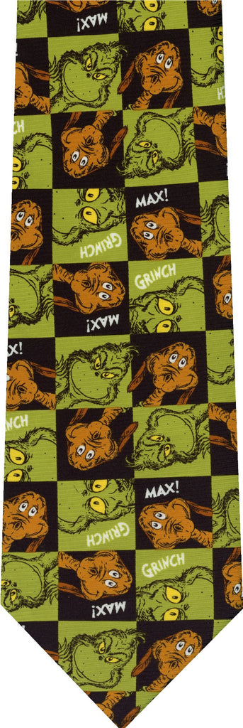 Dr Seuss's Grinch and Max Reversible New Novelty Tie