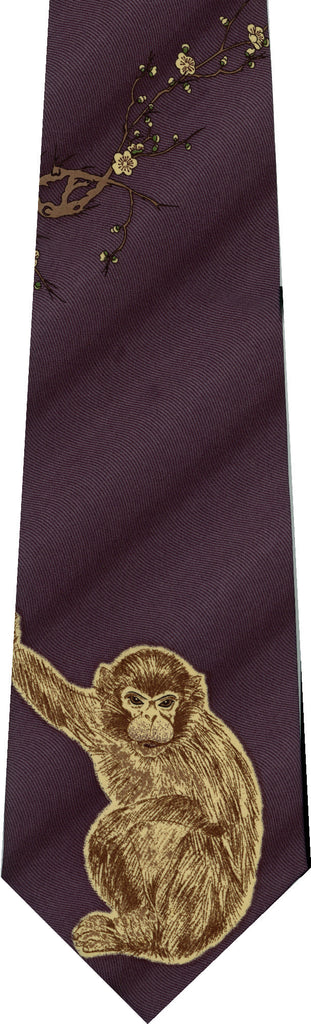 Monkey on Grey New Novelty Tie