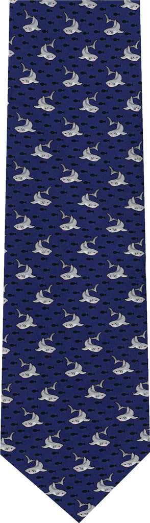 Sharks on Blue Animal New Novelty Tie