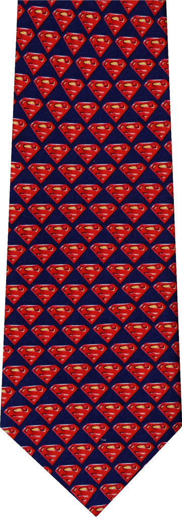 Superman Small Badge New Novelty Tie
