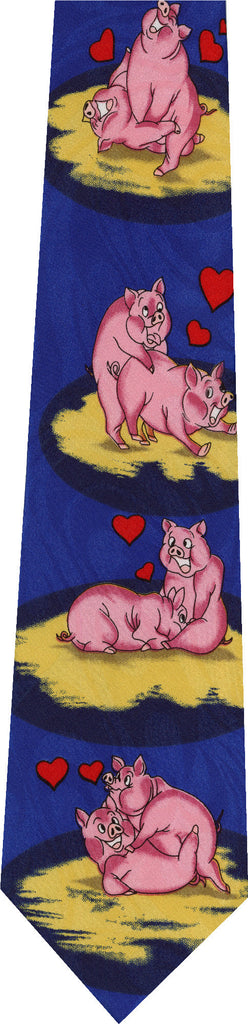 Pigs on Light Blue New Novelty Tie