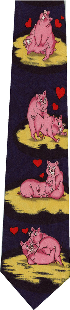 Pigs on Dark Blue New Novelty Tie