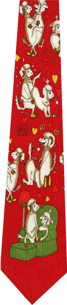 Sheep on Red New Novelty Tie