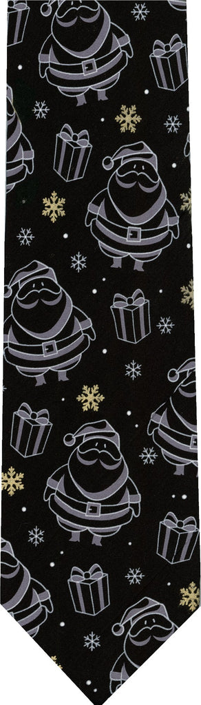 Santa Outline Christmas New Novelty Tie