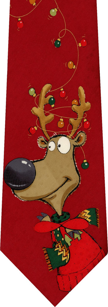 Reindeer Lights Christmas New Novelty Tie