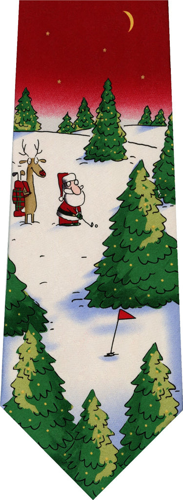 Santa Golf Christmas New Novelty Tie