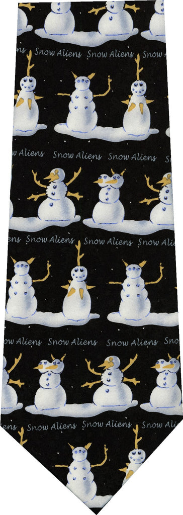 Snowmen Aliens Christmas New Novelty Tie