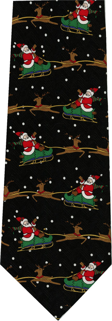 Santa Sleigh Christmas New Novelty Tie