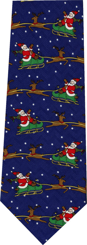 Santa Flying his Sleigh Christmas New Novelty Tie