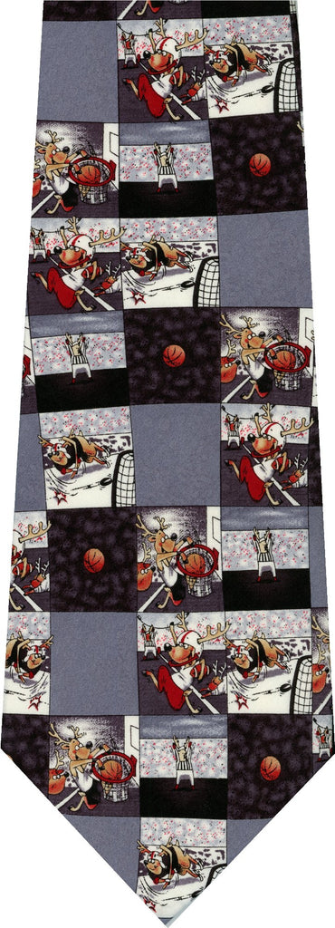 Reindeer Sports Christmas New Novelty Tie