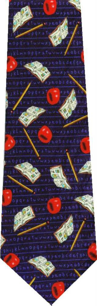 Books And Pencils New Novelty Tie