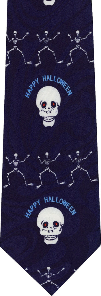 Skull and Crossbones Halloween New Novelty Tie