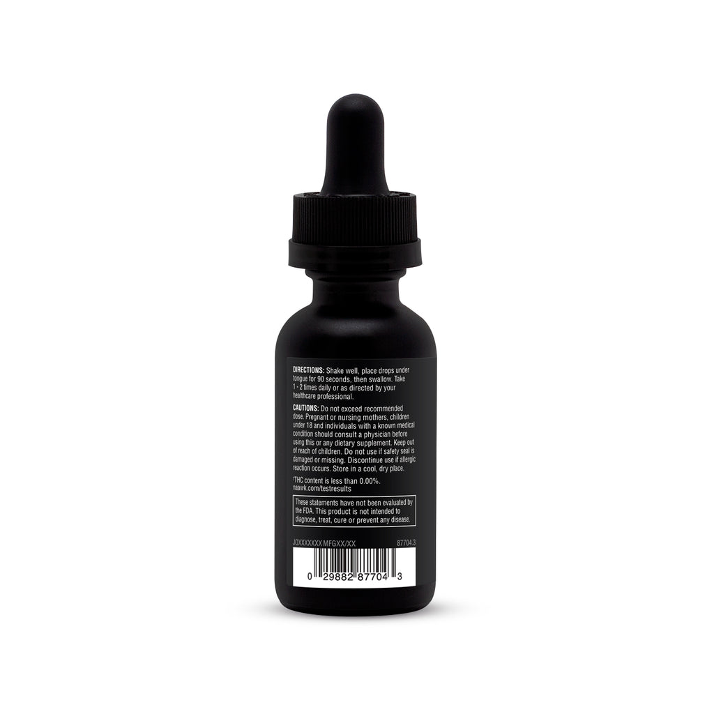 Certified THC-Free 20MG Per Serving CBD Oil