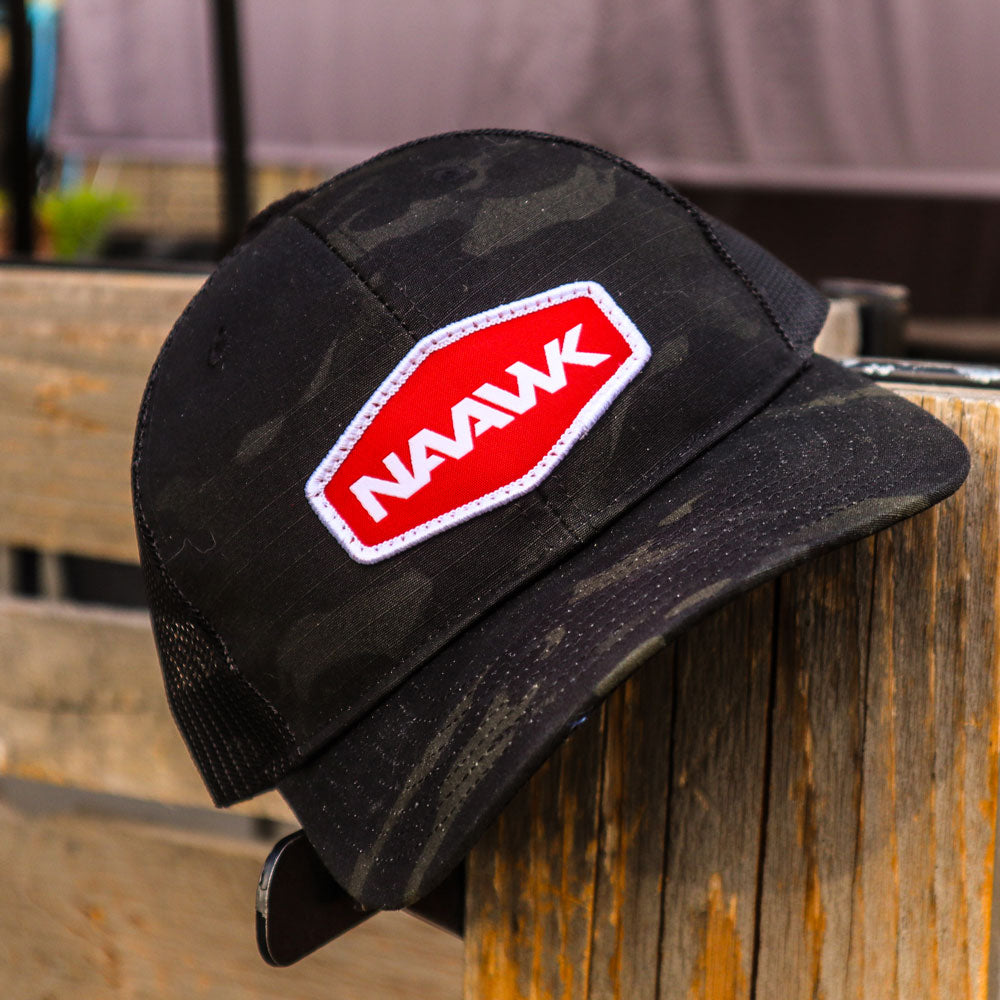 Black Multicam Trucker Hat