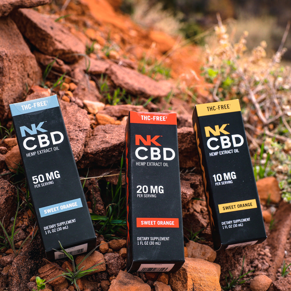 Certified THC-Free 50MG Per Serving CBD Oil