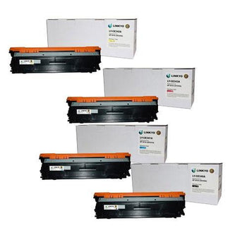 LINKYO Replacement 4-Color Toner Set for HP 651A (Black, Cyan, Magenta, Yellow)