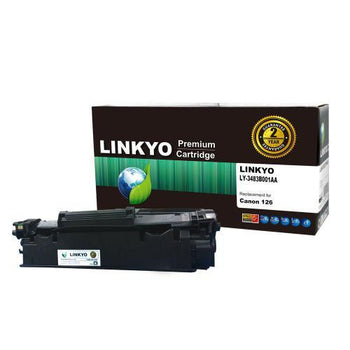 LINKYO Replacement Black Toner Cartridge for Canon 126
