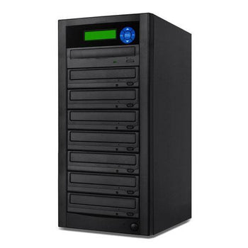 SuperMediaStore 1 to 7 DVD Duplicator (Economic Line) built-in Asus 24X Burner, Black Casing - Retail