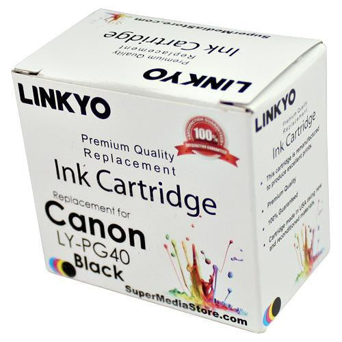 LINKYO Replacement Black Ink Cartridge for Canon PG-40