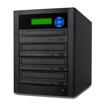 SuperMediaStore 1 to 3 DVD Duplicator (Economic Line) built-in Asus 24X Burner, Black Casing